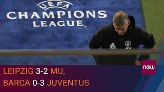 Leipzig 3-2 MU, Barca 0-3 Juventus: MU xuống Europa League, Messi im lặng trước Ronaldo | VTC Now - YouTube