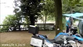 Italy Lago d'Iseo, visiting Bergamo and capital Milan with cathedral Duomo on BMW R1200GS motorbike