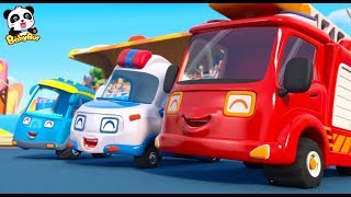 Super Car Racing Team | Baby Panda's Dream | Car Story for Kid | Fire Truck, Monster Truck | BabyBus
