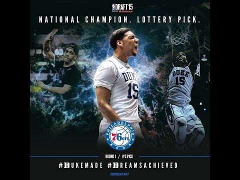 Jahlil Okafor: 3rd Pick Of 2015 NBA Draft (6/26/15)