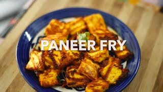 Simple Juicy Paneer Fry | Veg Recipes |  Homemade Paneer Kabab without Oven |