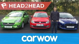 Ford Fiesta vs Volkswagen Polo vs Vauxhall Corsa 2016 review | Head2head
