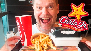 CARL'S JR BURGER FOOD REVIEW  - Fast Food Friday - Greg's Kitchen