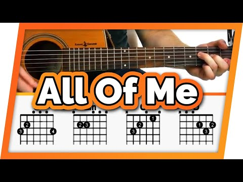 All Of Me Guitar Tutorial (John Legend) Easy Chords Guitar Lesson