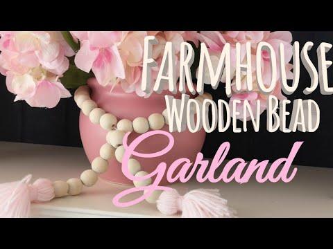 FARMHOUSE WOODEN BEAD GARLAND | FARMHOUSE DECOR