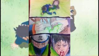 Speed Drawing Kakashi And Obito Naruto Shippuden