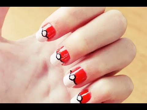 Uñas Pokéball Pokémon Pokéball Nails