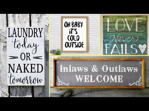 ❣54 DIY Rustic/Farmhouse style wood signs home decor ideas 2017❣