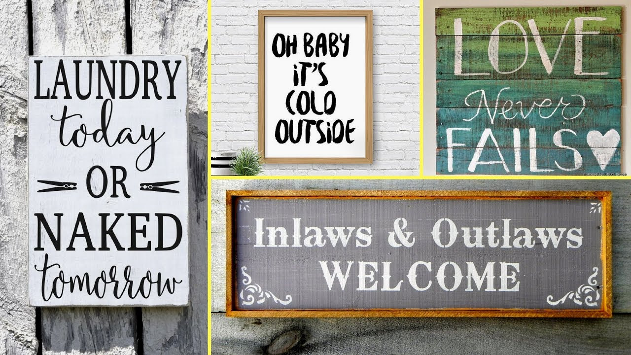 54 diy rustic farmhouse style wood signs home decor ideas for Rustic home decor and woodworking