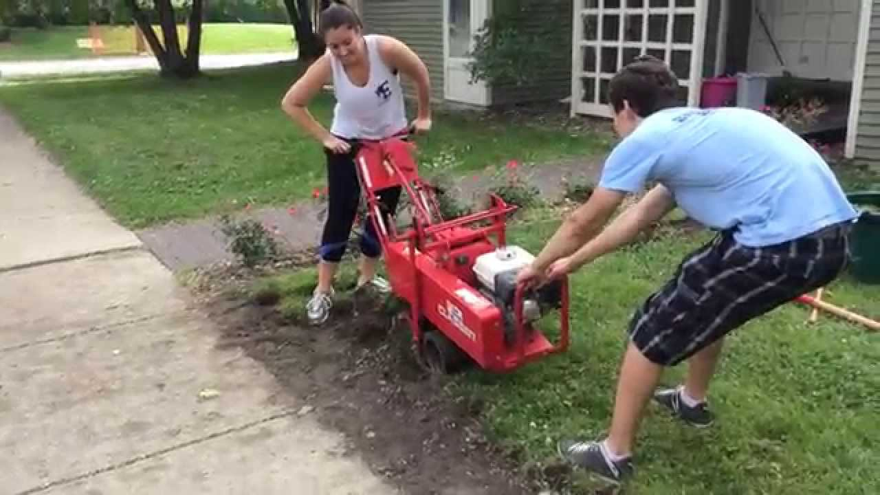 Redoing The Raggedy Side Lawn 2017