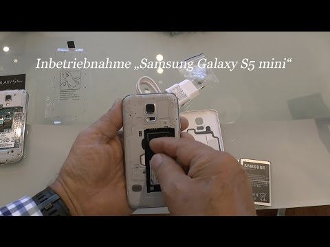 Inbetriebnahme, Handy Samsung Galaxy S5 mini, deutsch von tubehorst1