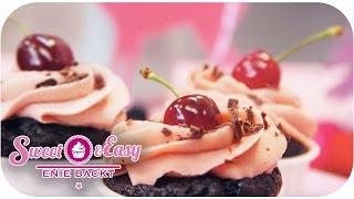 Vegane Schwarzwälder-Kirsch-Cupcakes | Sweet & Easy - Enie backt | sixx