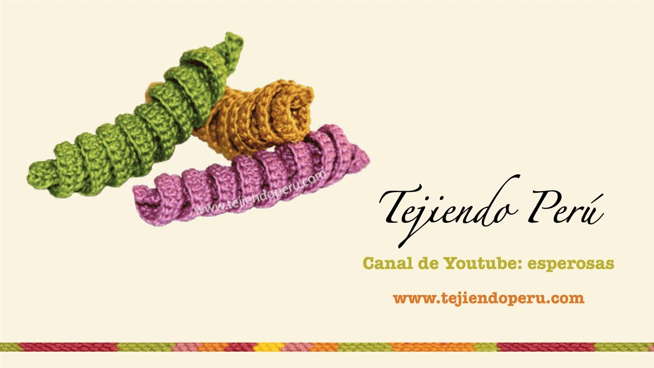 Crochet: resortes tejidos - YouTube