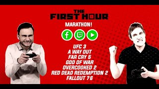 THE FIRST HOUR MARATHON: UFC 3, A Way Out, God of War, Overcooked 2, Red Dead Redemption 2 & More