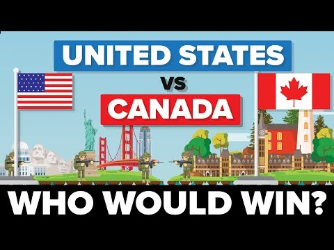 United States (USA) vs Canada 2017 - Who Would Win - Army / Military Comparison