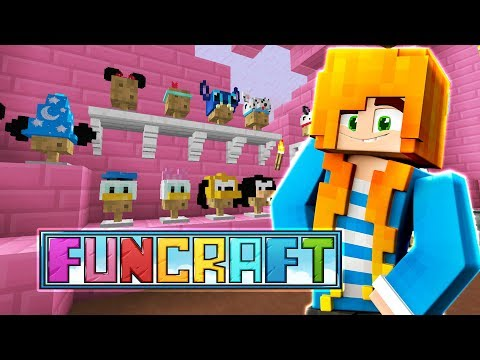 DONUTS AND DISNEY HATS | Minecraft: FunCraft - Ep.04 | Marielitai Gaming