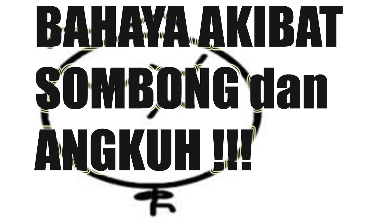 Image result for sikap sombong