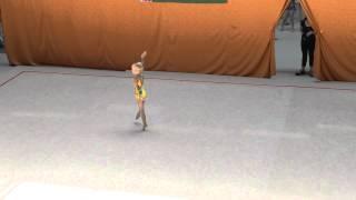 Соревнования по художественной гимнастике  Первое выступление ЛИ  06 06 15(Художественная гимнастика, дети. Первые соревнования Ли (6 лет) 2015 г. 9., 2015-08-19T20:49:26.000Z)