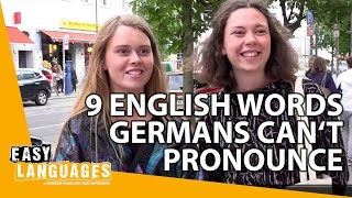 9 English words Germans cant pronounce