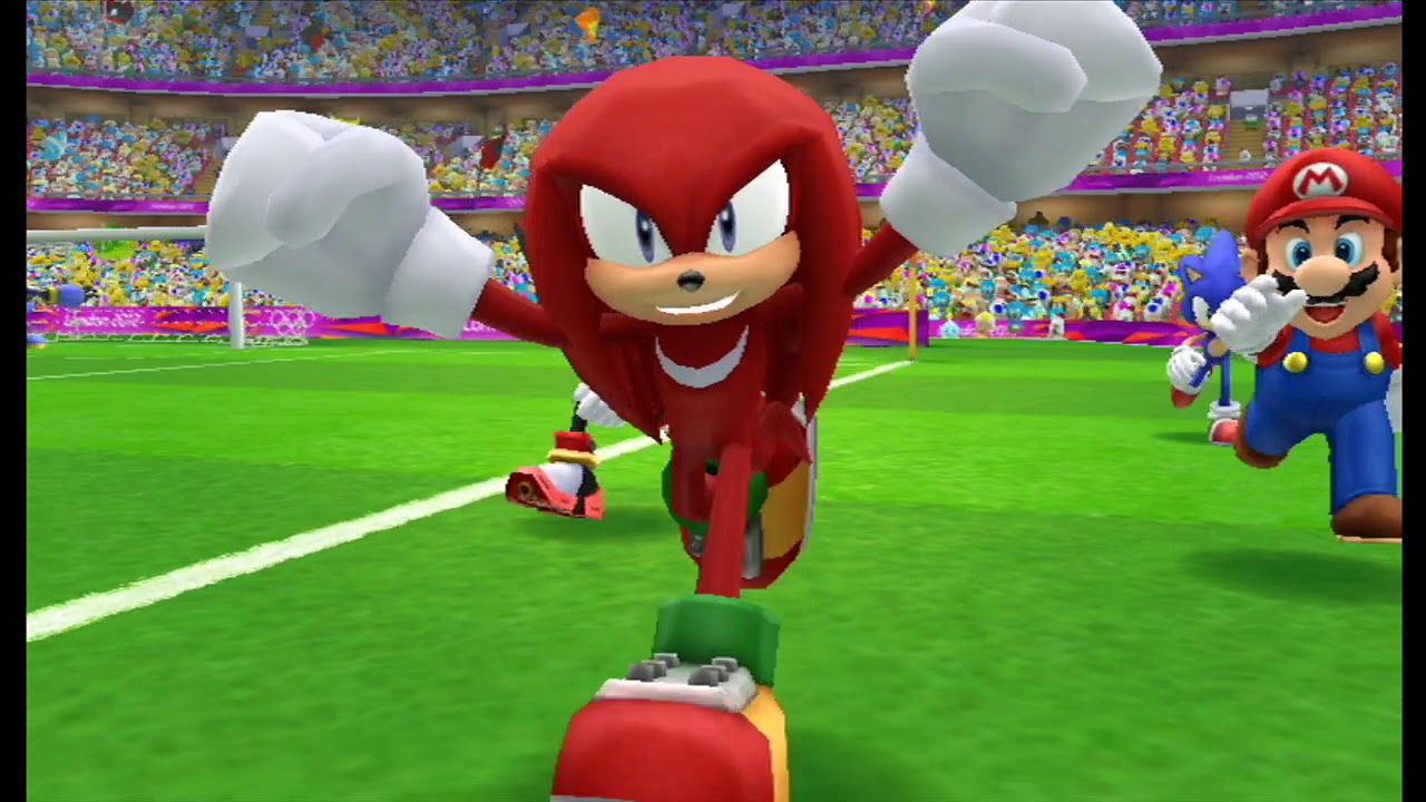 Mario & Sonic At The London 2012 Olympic Games Football #28 Knuckles, Mario, Sonic, Shadow - YouTube