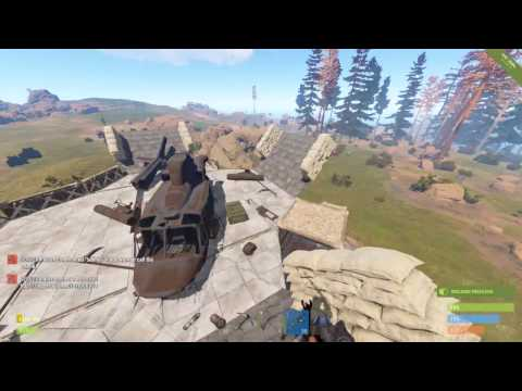 RUST 拠点紹介!!! (ヘリポート付)  how to make a heli port on top of ur base