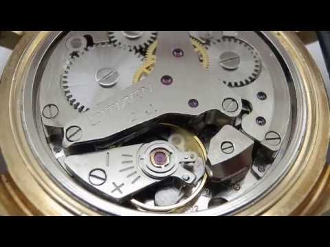 Citizen Alarm Date 21 Jewels Watch movement Cal.3102 Running.