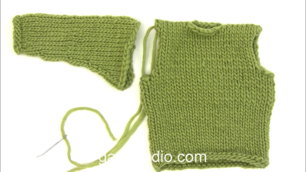 c341cae3645f47 How to set a sleeve in a stocking stitch jumper - YouTube