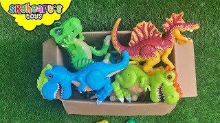 Dinosaur FIGHT in Box! Skyheart Toys dino battle jurassic trex for kids spinosaurus