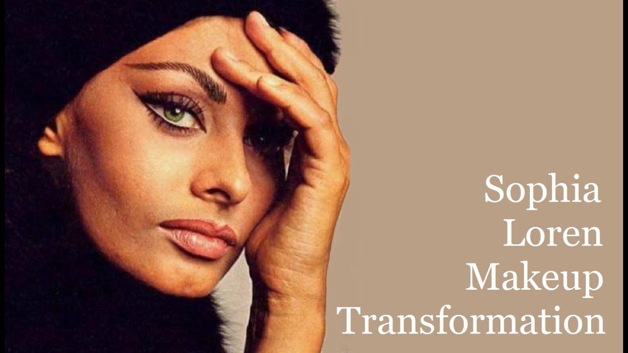 Sophia Loren Makeup Transformation Tutorial - YouTubeSophia Loren No Makeup