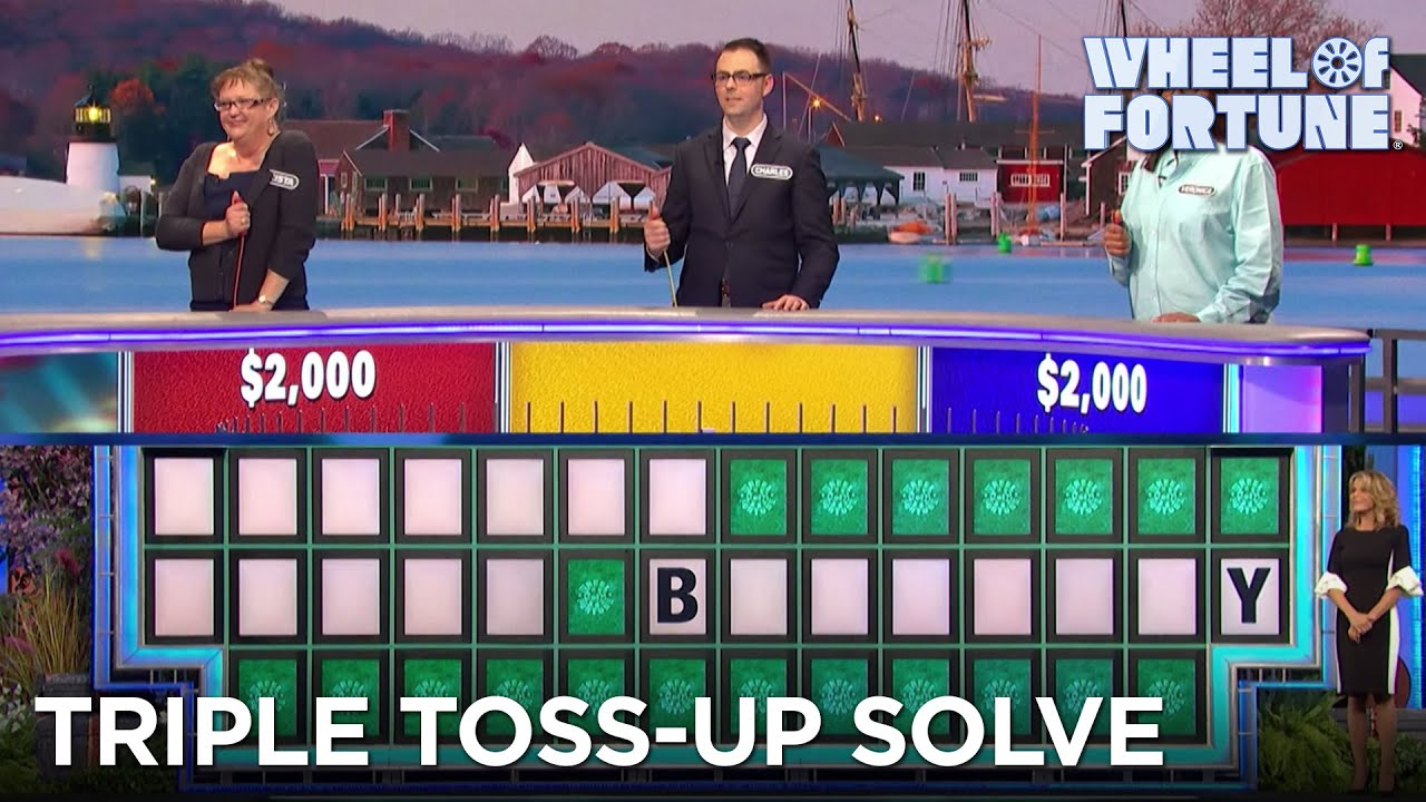 Charles Solves This Triple Toss-Up Puzzle With Only 2 Letters (1/22/21) | Wheel of Fortune