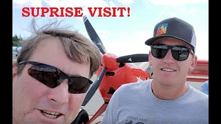 Trent Palmer Surprise Visit and Kitfox Fly-In!