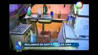 Reclamo en el barrio Santa Rosa de Lima