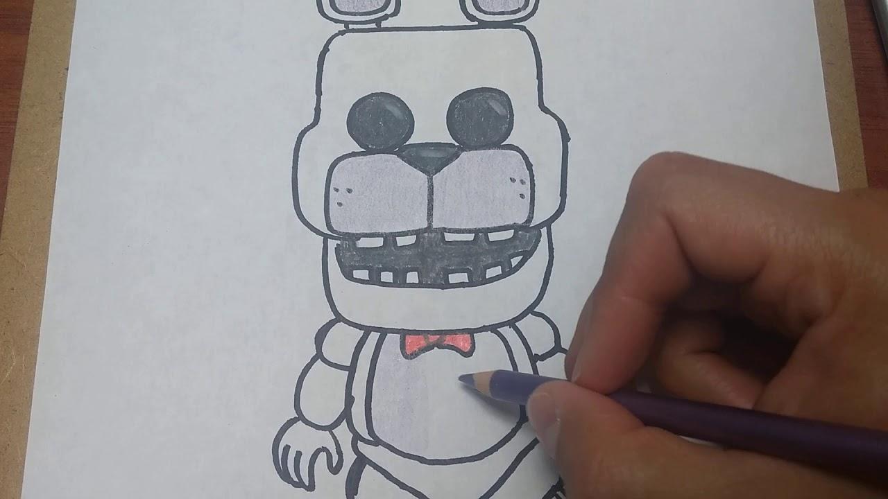 Cómo Dibujar Y Pintar A Bonnie Funko Pop De Five Nights At Freddyshow To Draw Bonnie