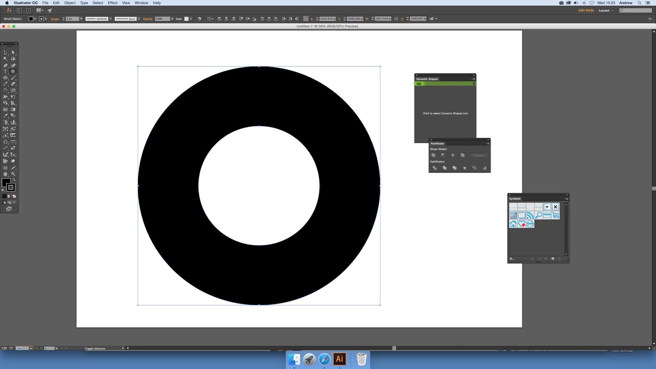 How to create a donut in illustrator intermediate tutorial youtube ccuart Images