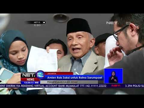 Live Report Amien Rais Merasa Dikriminalisasi   NET12