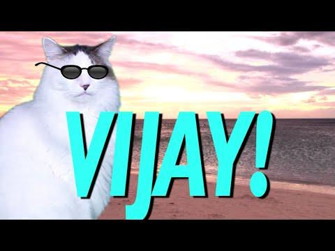 HAPPY BIRTHDAY VIJAY! - EPIC CAT Happy Birthday Song