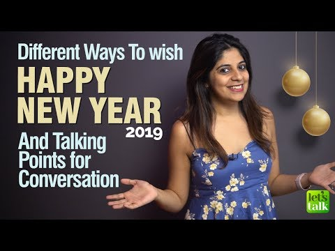 Greetings & Wishes For The 'New Year 2019' | English Conversation For Beginners | Learn English