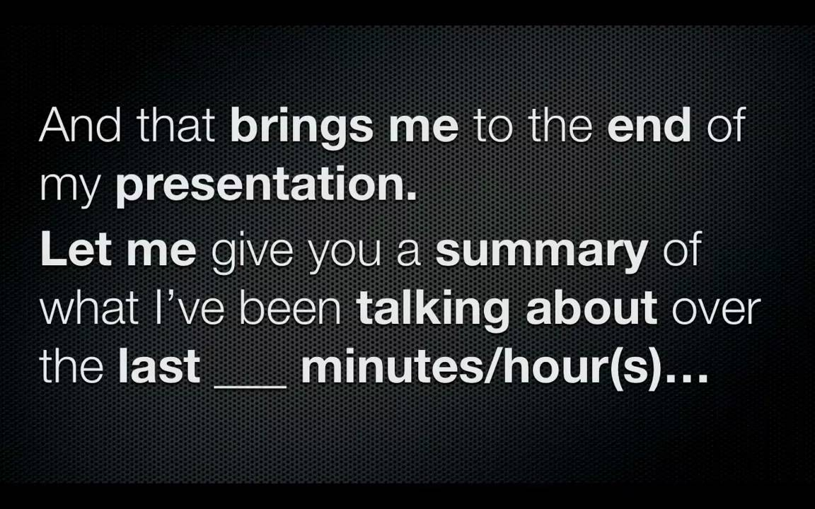 How to easily summarize your presentation