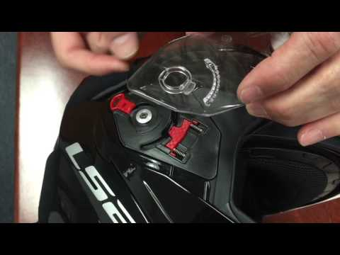 How to: Remove and reinstall the faceshield on an LS2 Metro Modular Motorcycle Helmet.