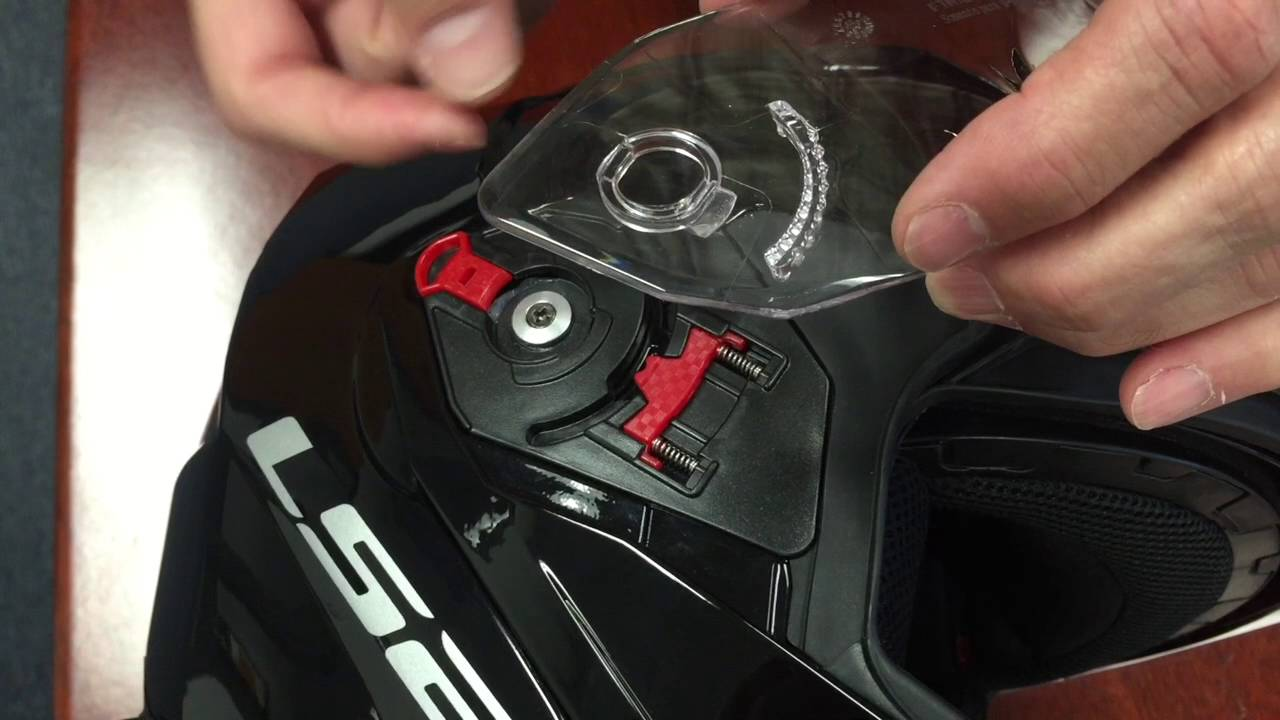 How To Remove And Reinstall The Faceshield On An Ls2 Metro Modular