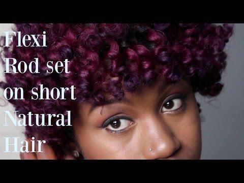 Natural Hair: Flexi Rod Set on Short Hair/Twa