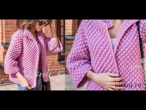 Кардиган Соты Спицами 2019 / Cardigan Honeycomb Knitting Needles / Strickjacke Waben Stricknadeln