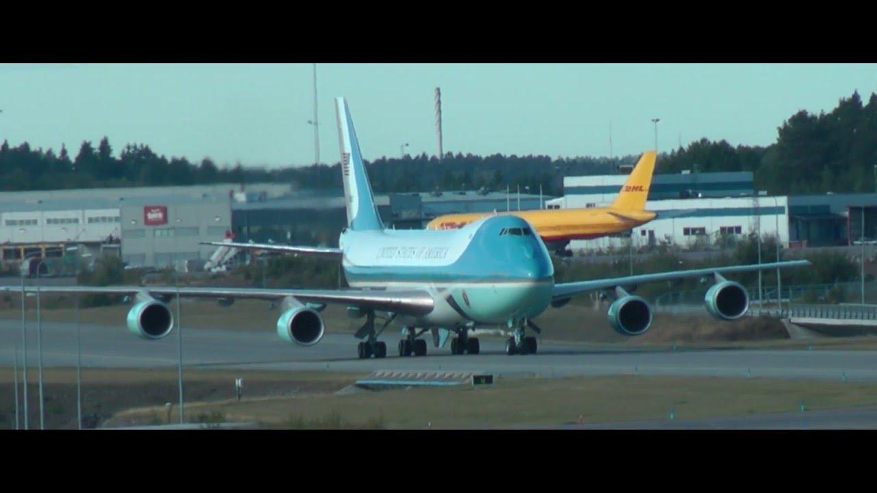 Download Air Force One at Stockholm Arlanda Airport [HD]