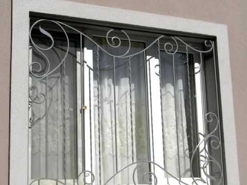 Металлические решетки для пластиковых окон пример дизайна, оконные решетки с элементами ковки