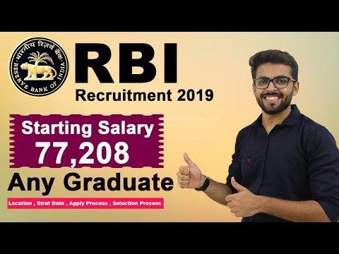 RBI Recruitment 2019 | 77,000 Salary | Any Graduate | Latest Job 2019