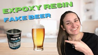 RESIN PROPS - Making Fake Beer from Epoxy Resin! Easy fake drinks on stage! So realistic!