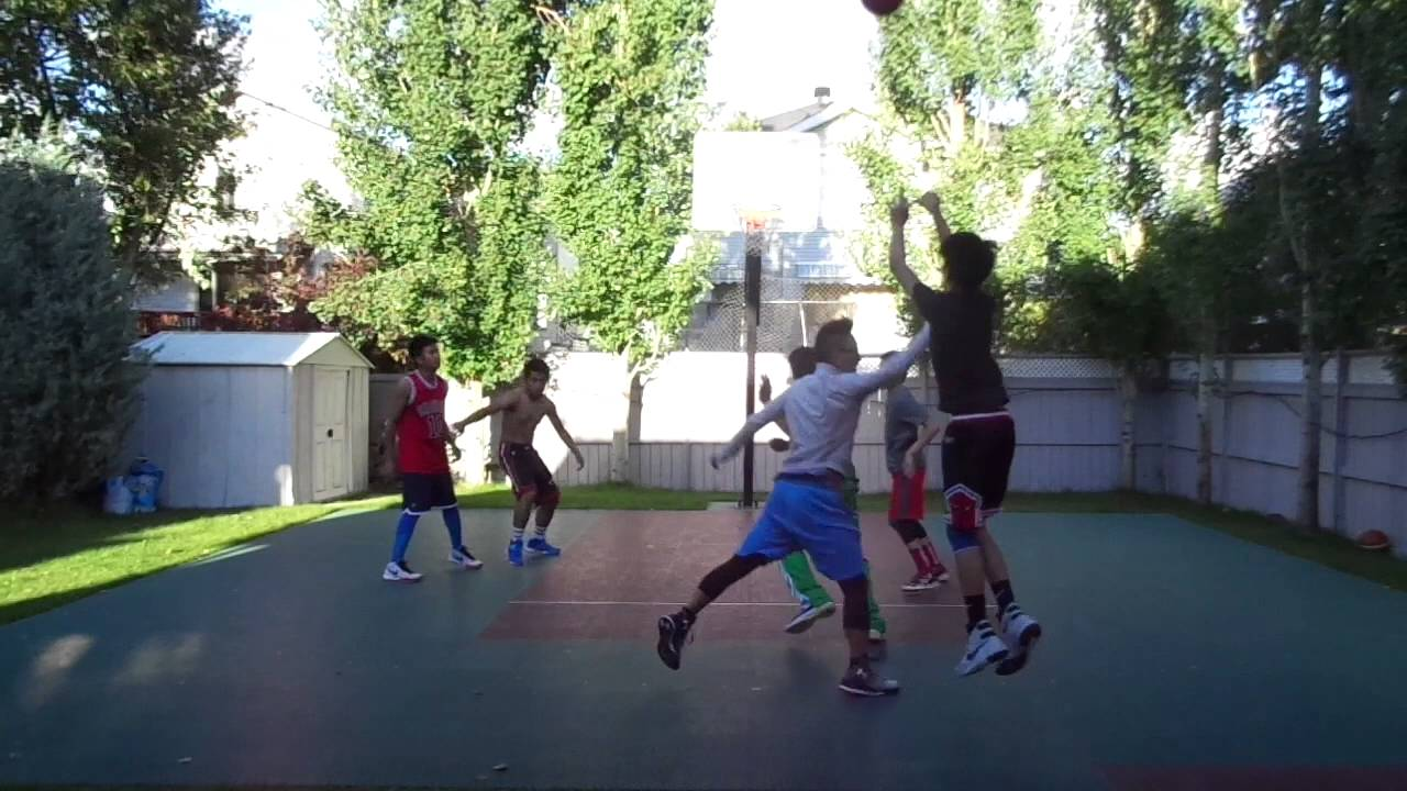 calgary backyard basketball game 4 08 16 16 youtube