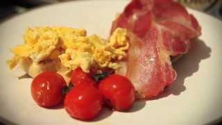 Английский завтрак в дровяной печи