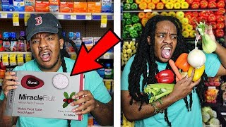 Taking A PILL to Make Everything Taste SWEET! (Miracle Berry Challenge)