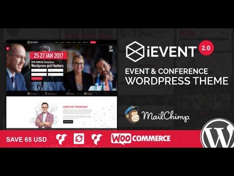 iEvent v2.0.1 – Event & Conference WordPress Theme DESCARGA GRATIS ...